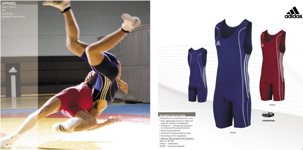 Sporting Goods red+blue adidas Wrestling Singlets KIDS