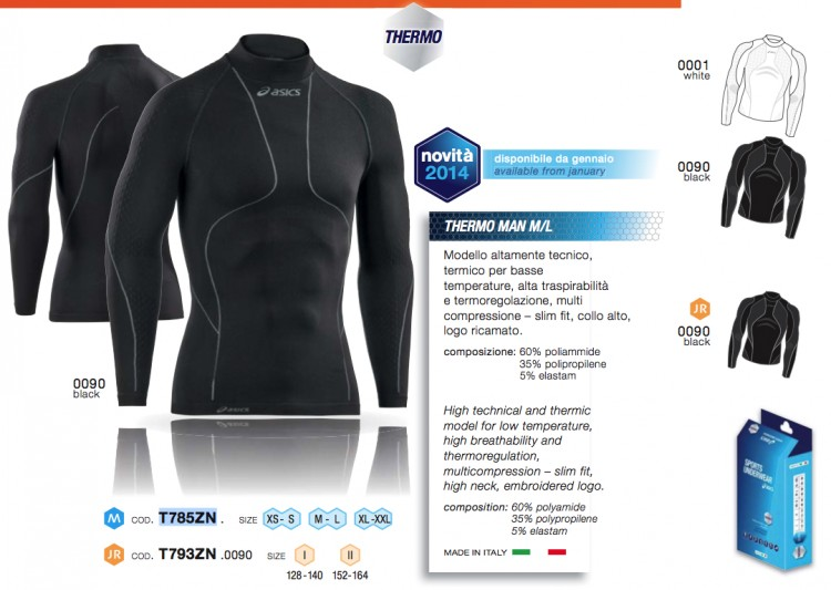 Asics Верх LS Thermo Man T785ZN