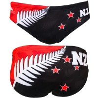 Turbo Water Polo Swimsuit NZ Flag 730784