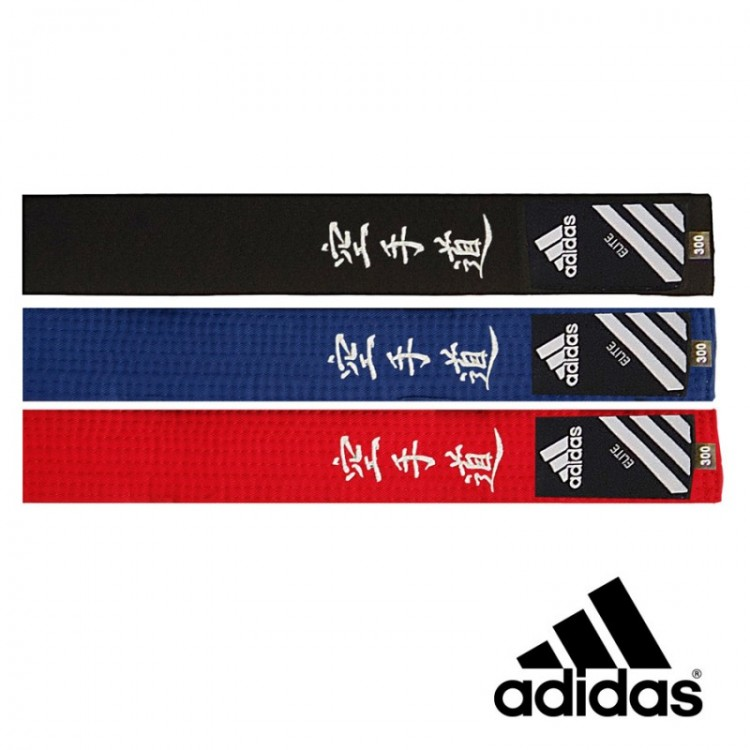 Adidas Belt Elite Embroidered Karate in Japanese adiB242 JP