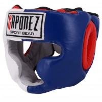 GAPONEZ Boxing Headgear 3-Tone GPHF WH/BL