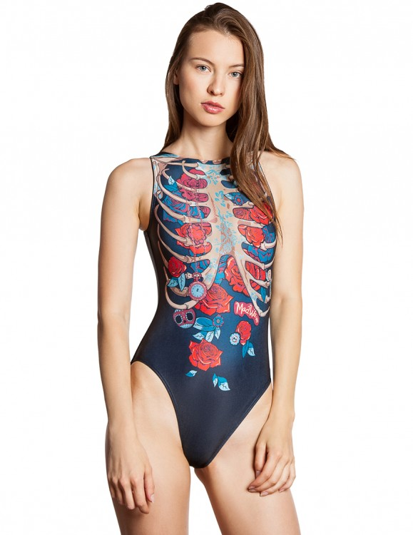 Madwave Water Polo Swimsuit Womens Boneshaker M0164 01