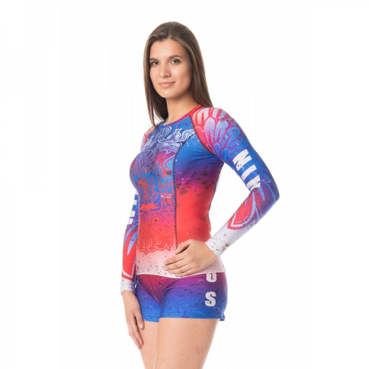 Ishi Top LS Rash Guard Compression Patriot ILST