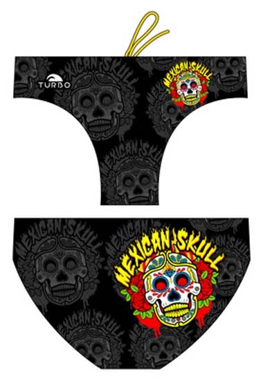 Turbo Water Polo Swimsuit Mexican Skull 79638