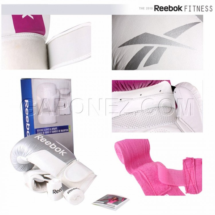 Reebok Boxing Gloves and Handwraps RE-40431WH