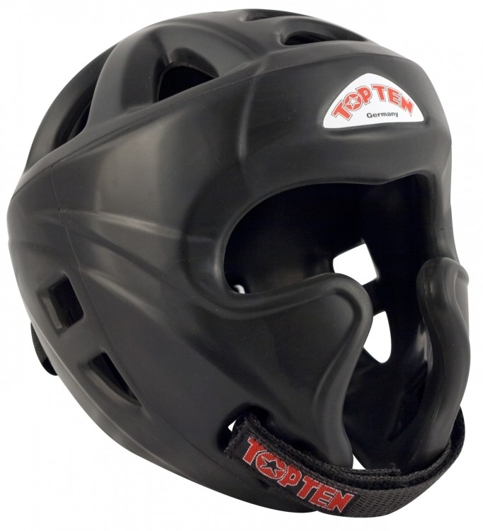 Top Ten Boxing Head Guard Full Protection Avantgarde Black Colour 4063-9004