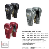 Everlast Boxing Gloves Protex3 Pro Fight EVPXFG3