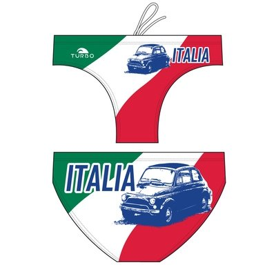 Turbo Water Polo Swimsuit Italia Fifty Car 79964