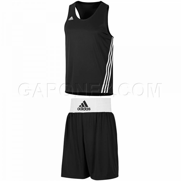 Adidas Base Punch Men/'s Boxing Shorts Black Vests Climalite Technology XL