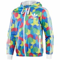 Adidas Originals Ветровка Five-Two-3 Puzzle Hooded Flock Track Top P04277