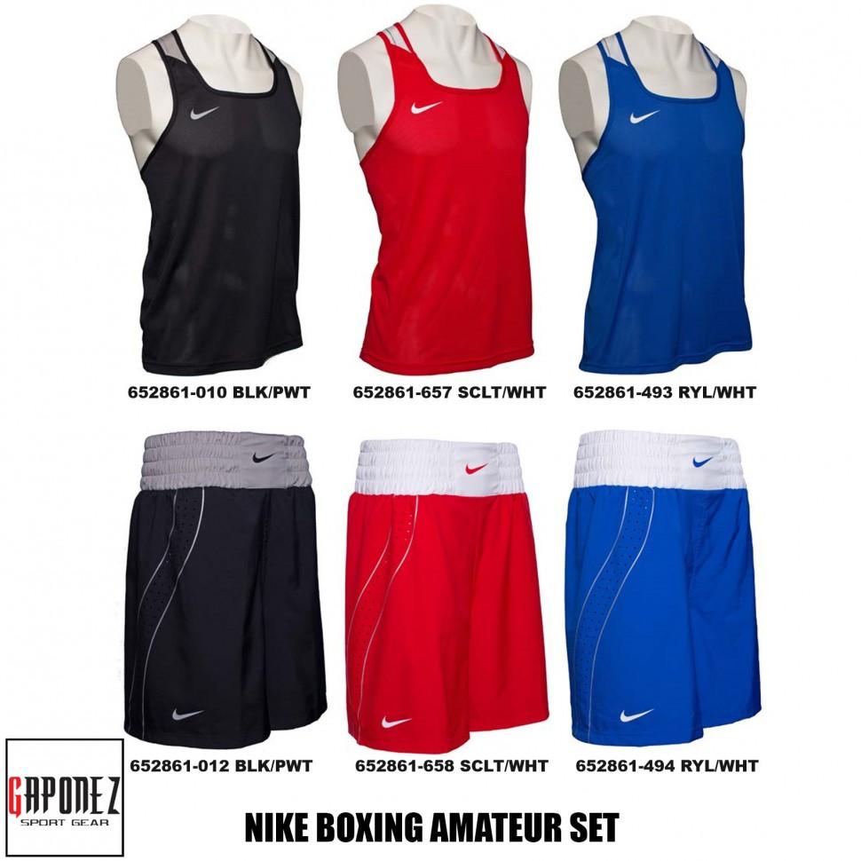 af6e383fd7 Nike Boxing Amateur Set (Top Tank and Shorts) Men's Apparel for AIBA ...