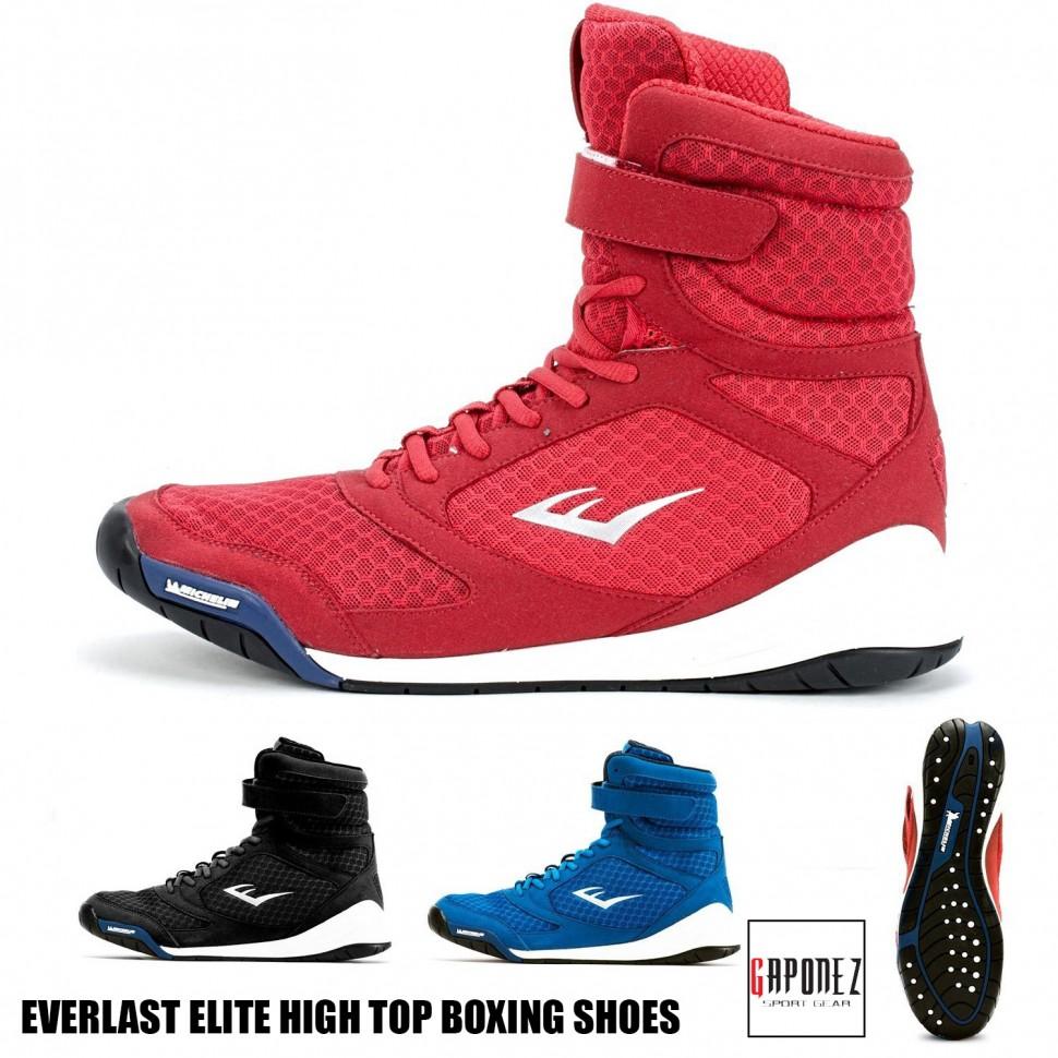 02c1d68389bc Купить Боксерки Боксерская Обувь Everlast Boxing Shoes Elite Hi-Top ...