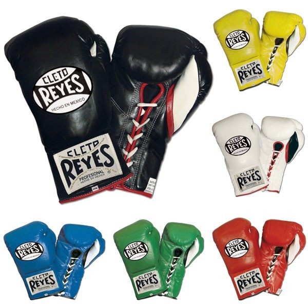 Cleto Reyes Boxing Gloves Fight Pro Official Leather with Laces (Weight 8  10 oz ounces) CROG from Gaponez Sport Gear