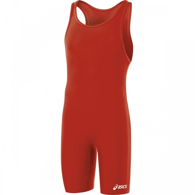 Asics Wrestling Suit Solid Modified Red JT200-23