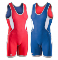 Brute Wrestling Singlet Men's (Reversible) Ventilated Red/Blue Color 010125