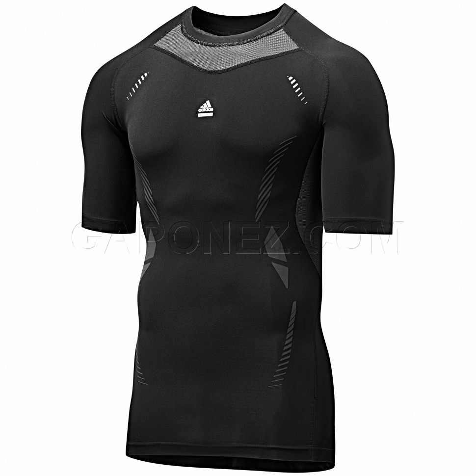 ADIDAS Men/'s Tech-Fit Chill GFX Short Sleeve Compression Shirt NWT Size XL