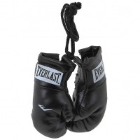 Everlast Novelties Mini Boxing Gloves Black Color EVBGSR BK