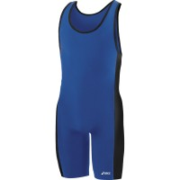 Asics Wrestling Wrestler Suit Men Feud Blue Color JT500-4390