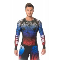 Ishi Top LS Rash Guard Compression Patriot ILSP