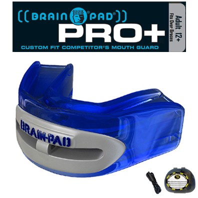 Brain-Pad Mouthpiece 2-Row Pro+ Plus BPWRP4 BL/GR