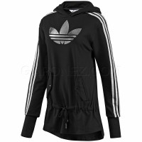Adidas Originals Джемпер Sleek Trefoil Hood Long W E81385