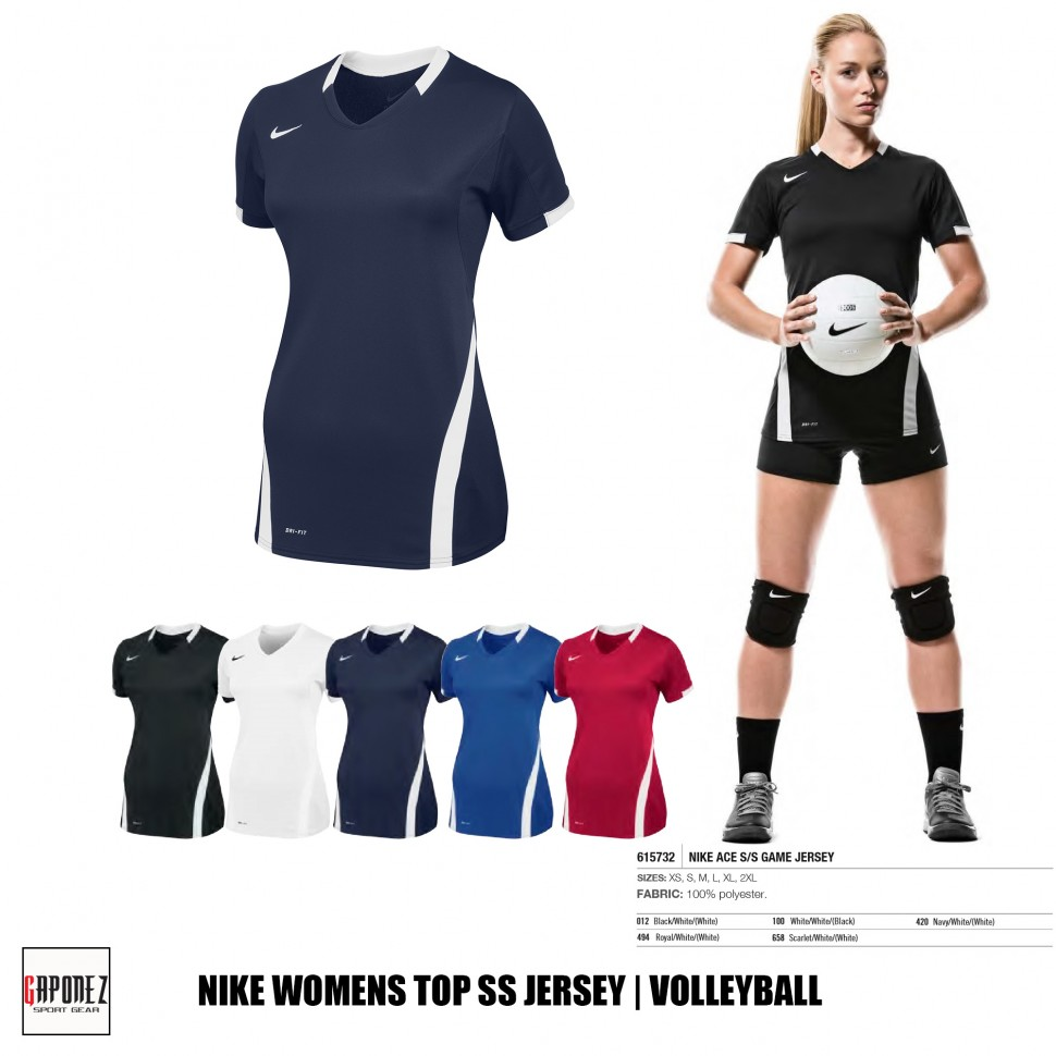 Temblar Monetario Docenas  Nike Volleyball Jersey SS Ace Game 615732 Women's T-Shirt from Gaponez  Sport Gear