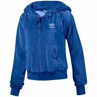 Adidas Originals Джемпер Sleek Velour Hood Track Top W E81360