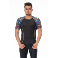 Ishi Top SS Rash Guard Compression Brains ISSB